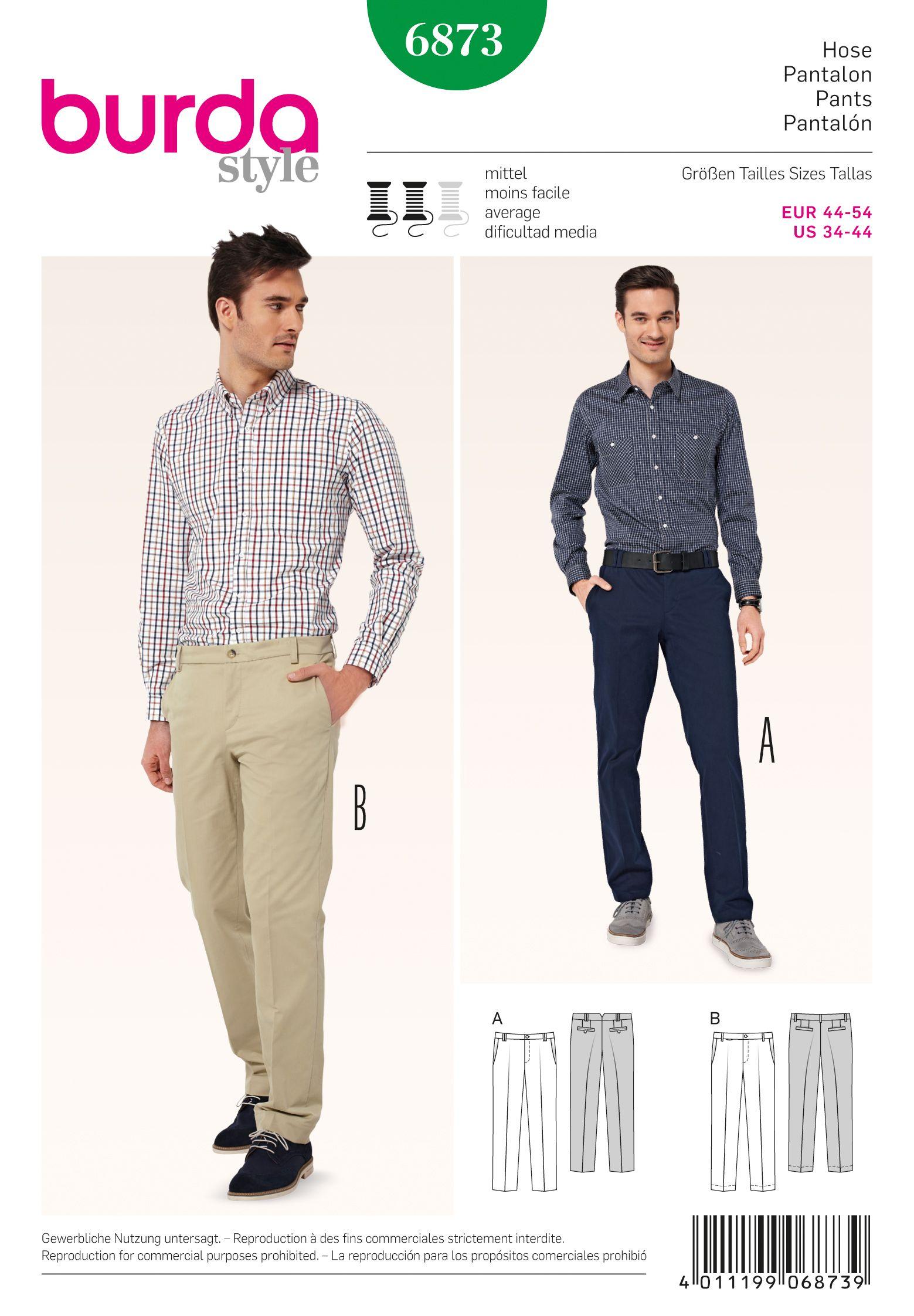 Burda 6873 mens pants burda sewing patterns sewing patterns burda 6873 jeuxipadfo Choice Image