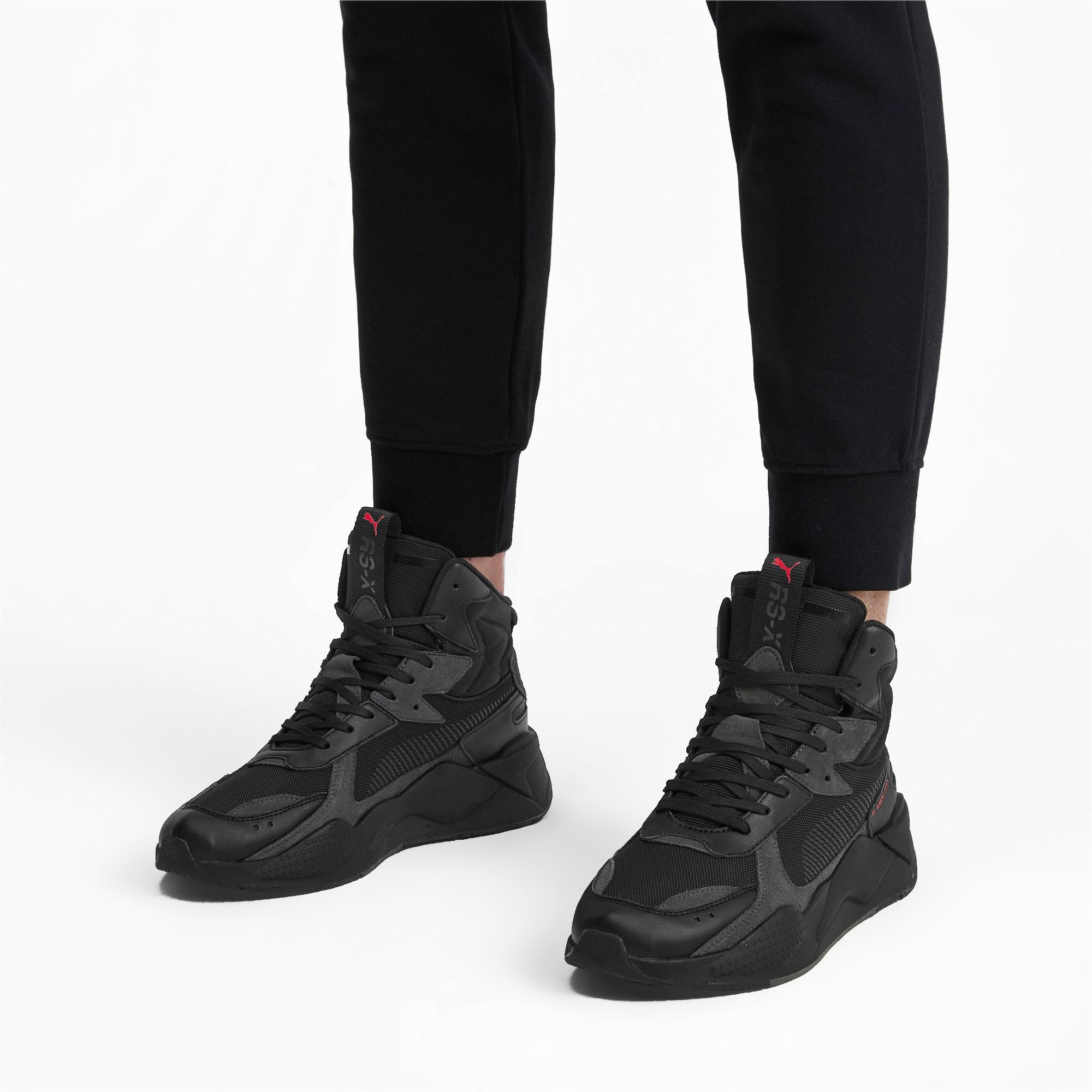 PUMA Rs X Midtop Binary Code Trainers in Black size 8.5