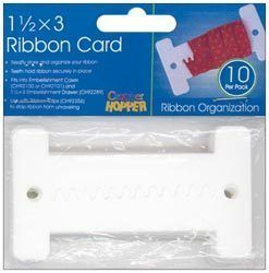 Details About Cropper Hopper Ribbon Cards 10 Pkg 1 5x3 Sewing