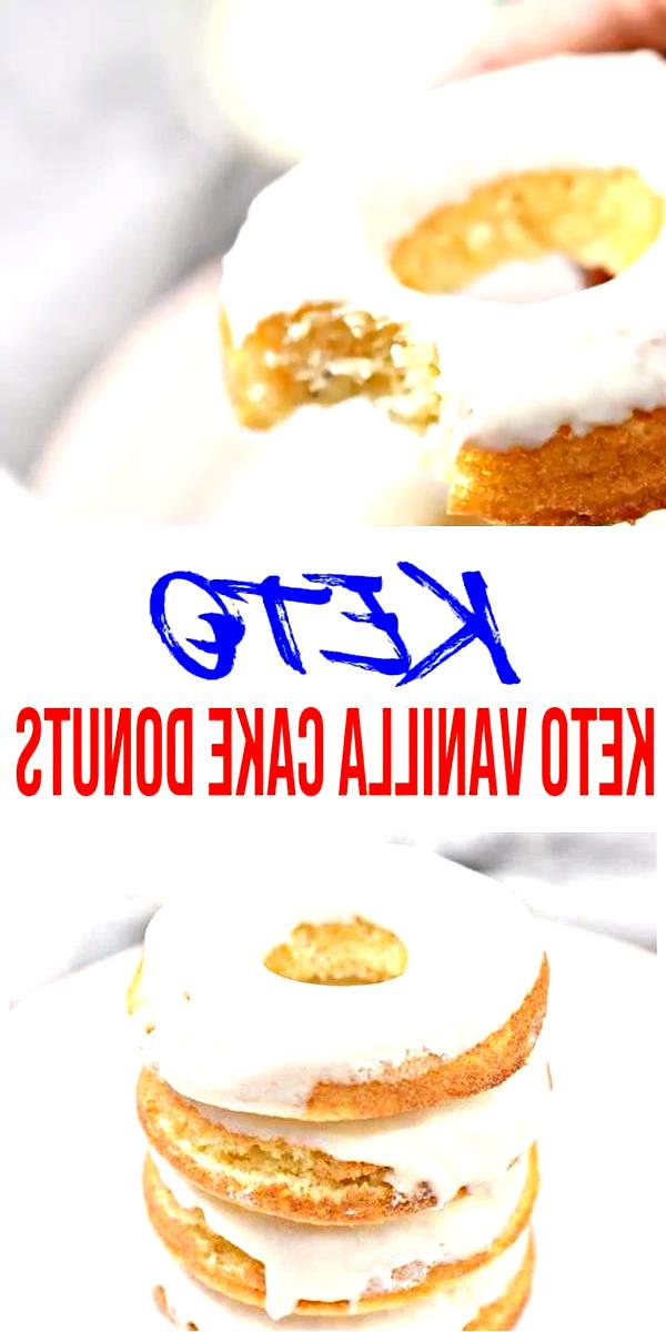 Keto Donuts! AMAZING ketogenic diet donuts – Easy simple ingredient vanilla cake…