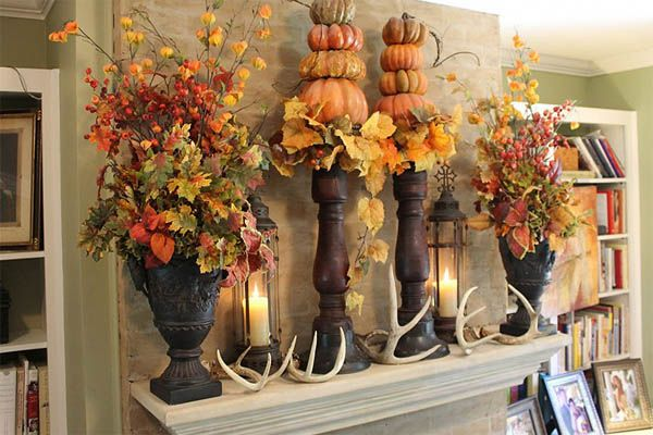 10 Absolutely Stunning Fall Mantel Ideas To Bring Outdoor Beauty Inside Fall Mantel Decorations Mantel Decorations Thanksgiving Mantel Decor