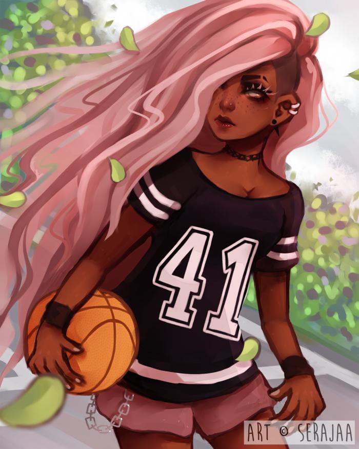 Dex By Serajaa No One In The Wnba Looks Like This Black Girl Cartoon Black Girl Art Black Anime Characters