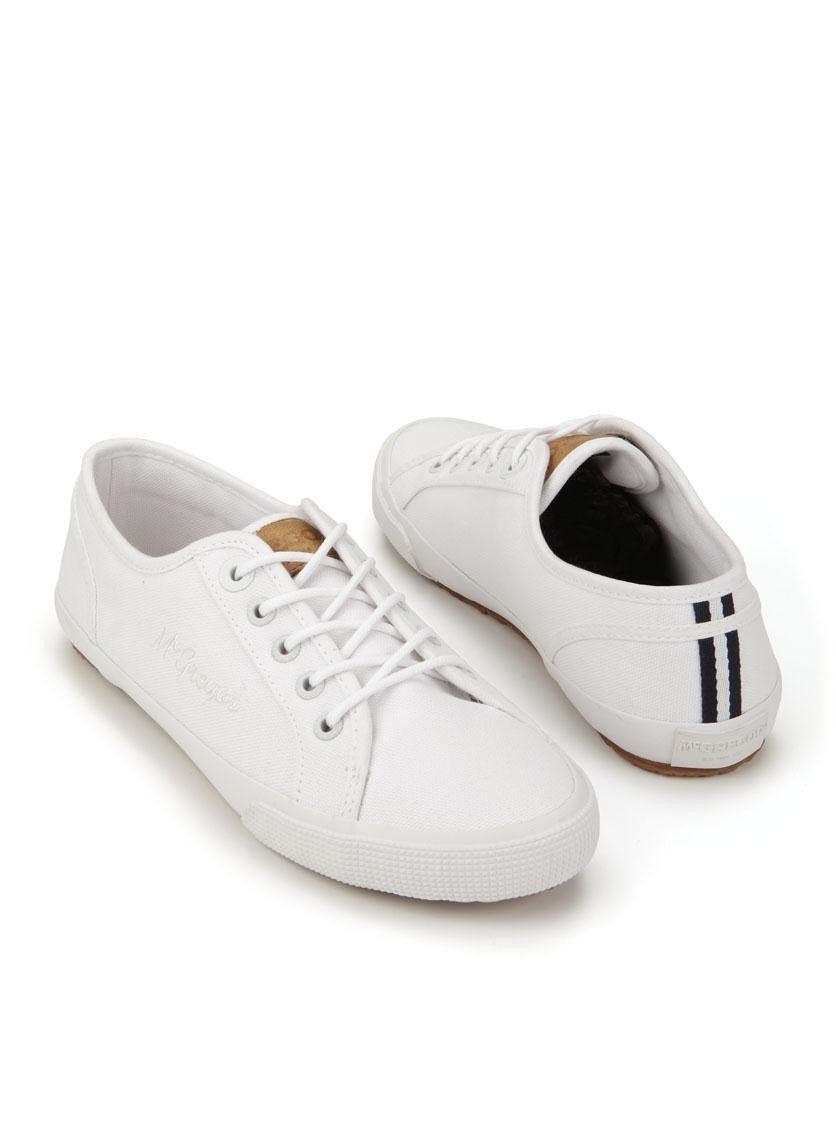 Mc. Gregor-MG1511.08684171 Campbell   Durlinger Schoenen. Witte sportieve  damesschoenen van