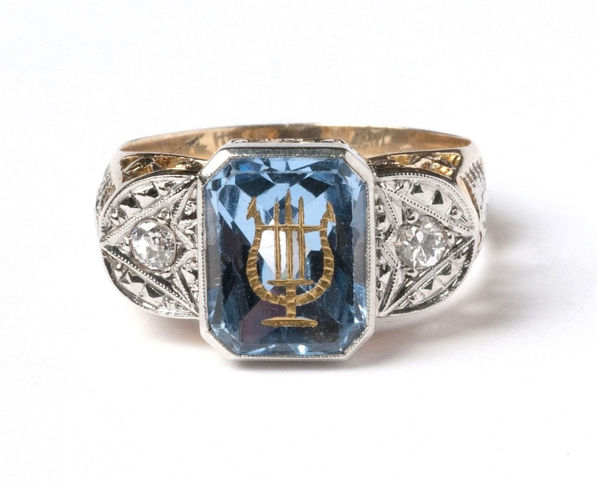 Anel de Formatura  Significado, Cor e Profissão Fotos e Dicas-anel -formatura-agua-marinha-masculino af669553d5