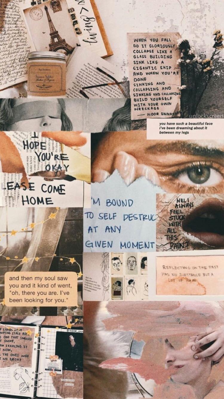 Pin By Keliah Villaflor On Lock Screen Aesthetic Collage