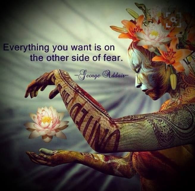 Release your worries about fear... and ride the currents through the dark waves... the sunrise is there... waiting... xo