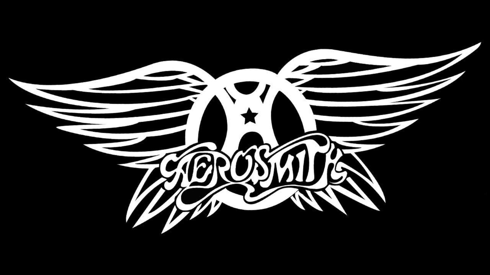 Download Wallpaper 1920x1080 Aerosmith Logo Symbol Text Wings Full Hd 1080p Hd Background Rock Band Logos Aerosmith Rock Bands