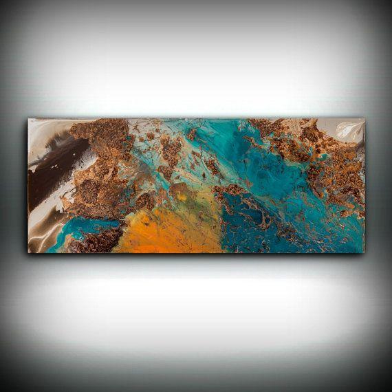 Blue and Copper Art, Wall Art Prints Fine Art Prints Abstract ...