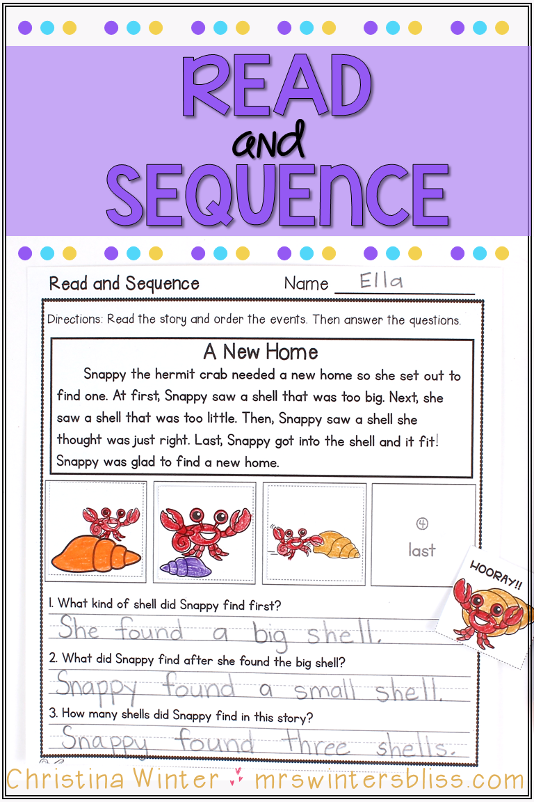 small resolution of Sequence of events activities perfect for kindergarten