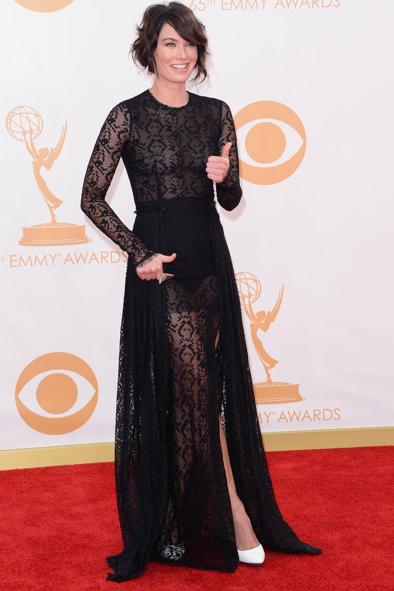 Premios Emmy 2013 Lena Headey in Alessandra Rich