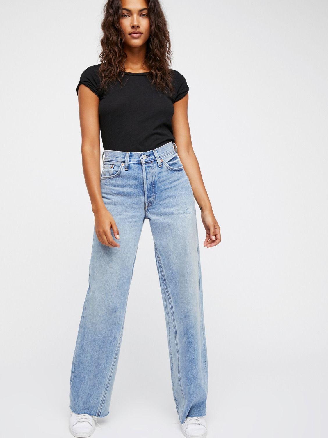 c7bbabfdd7e Levi s Wide Eyes Levi s Altered Wide Leg Jeans at Free People Clothing  Boutique