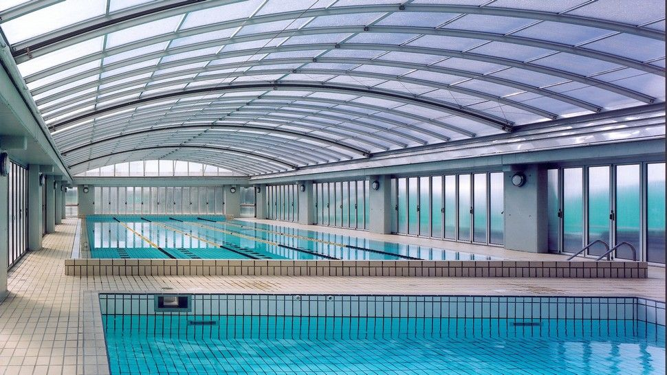 Swimming Pool With Retractable Roof   Settimo Milanese MI Italy