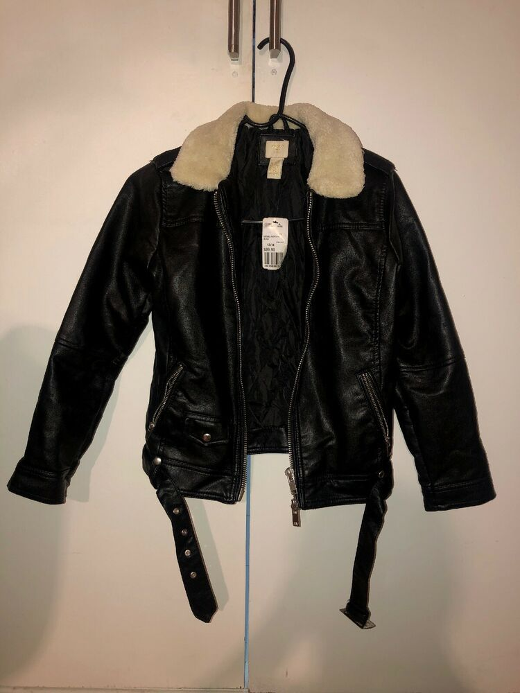 80169715fca Forever 21 Girls Black Leather Jacket Brand New 13/14 #fashion ...