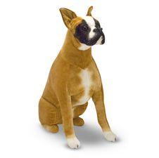 Stuffed Plush Toy Dogs Melissa Doug Boxer Dog Stuffed Plush