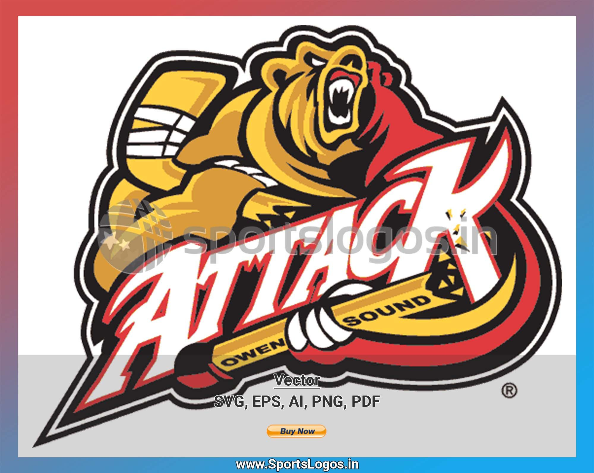 Owen Sound Attack Hockey Sports Vector SVG Logo in 5