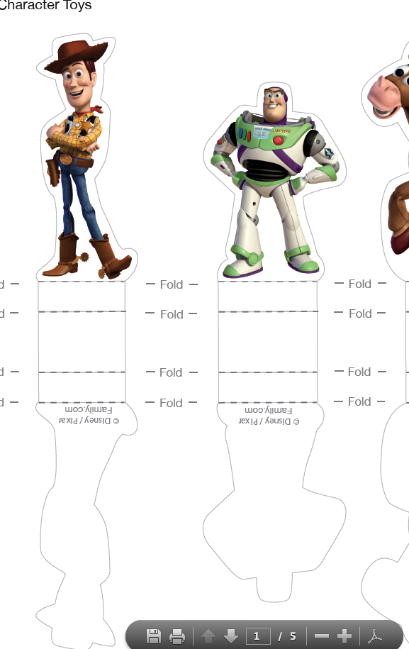 How To Enlarge Free Toy Story Printable Characters