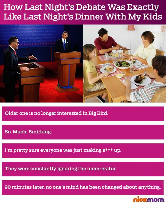 Nickmom.com on the #debates