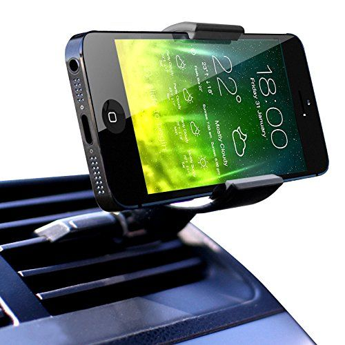 Black QuGi JHD-26HD67 360 Rotate Air Vent Mount Cell Phone Holder for All Smartphones