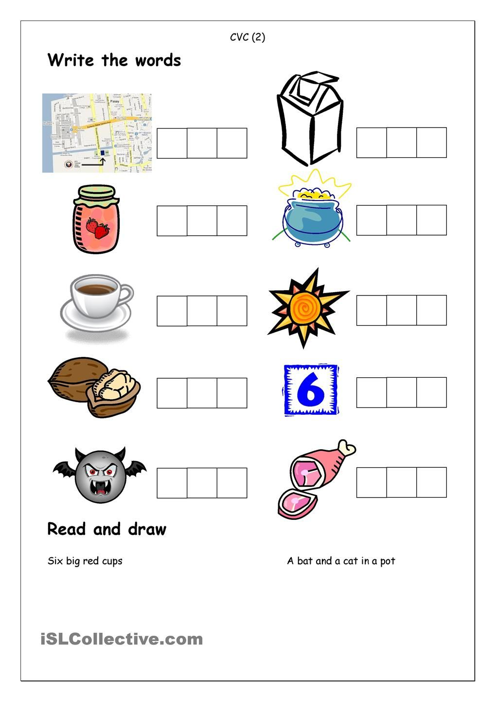 Phonics - Spelling CVC (2)  English Language, ESL, EFL, Learn  free worksheets, worksheets for teachers, math worksheets, grade worksheets, and multiplication Cvc Phonics Worksheets 2 1440 x 1018