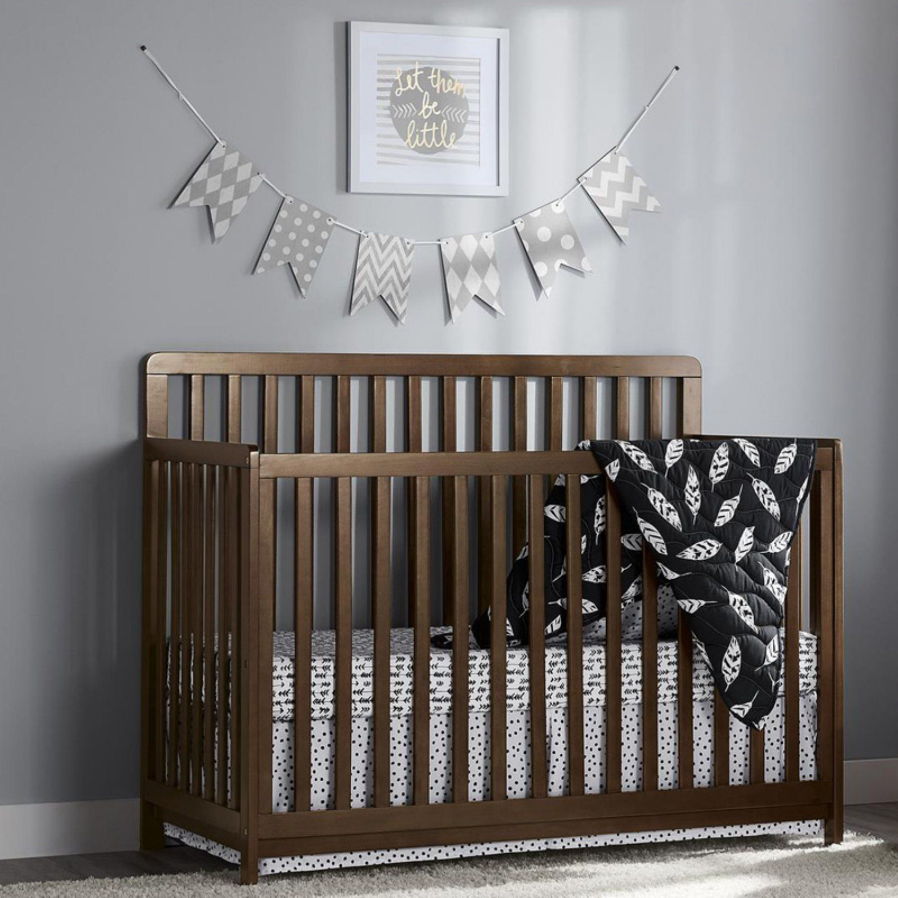 Little Seeds Sierra Ridge Cara 2 In 1 Convertible Crib
