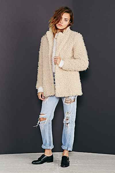 Kimchi Blue Fuzzy Cocoon Jacket Urban Outfitters End Of