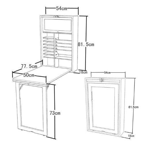 Cuisine Avec Table Intégrée: SoBuy FWT08-W Armoire Murale Avec Table Pliable Intégrée