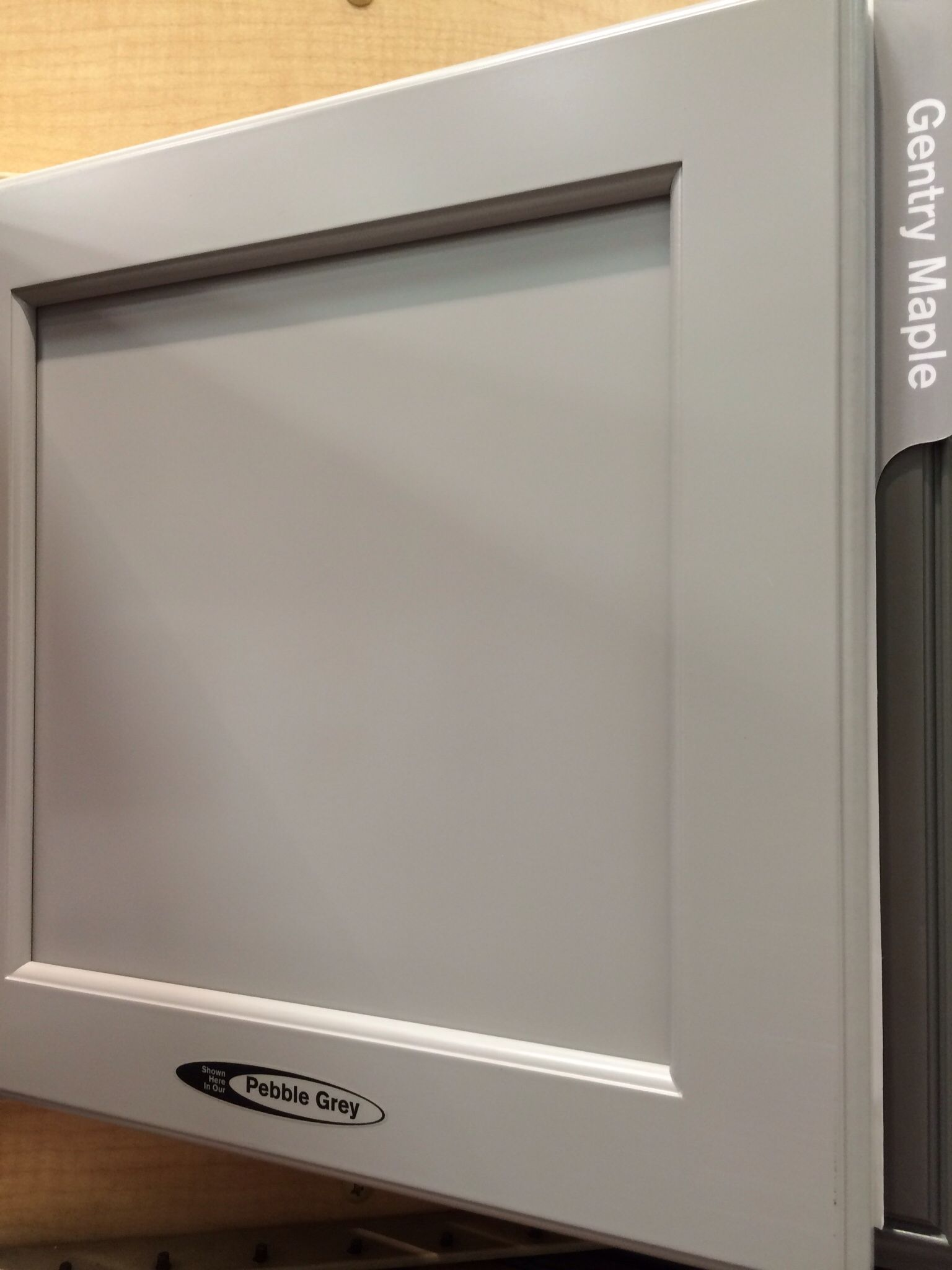 Kraftmaid grey kitchen cabinets - Kraftmaid Pebble Grey Cabinets This Was Lighter Color