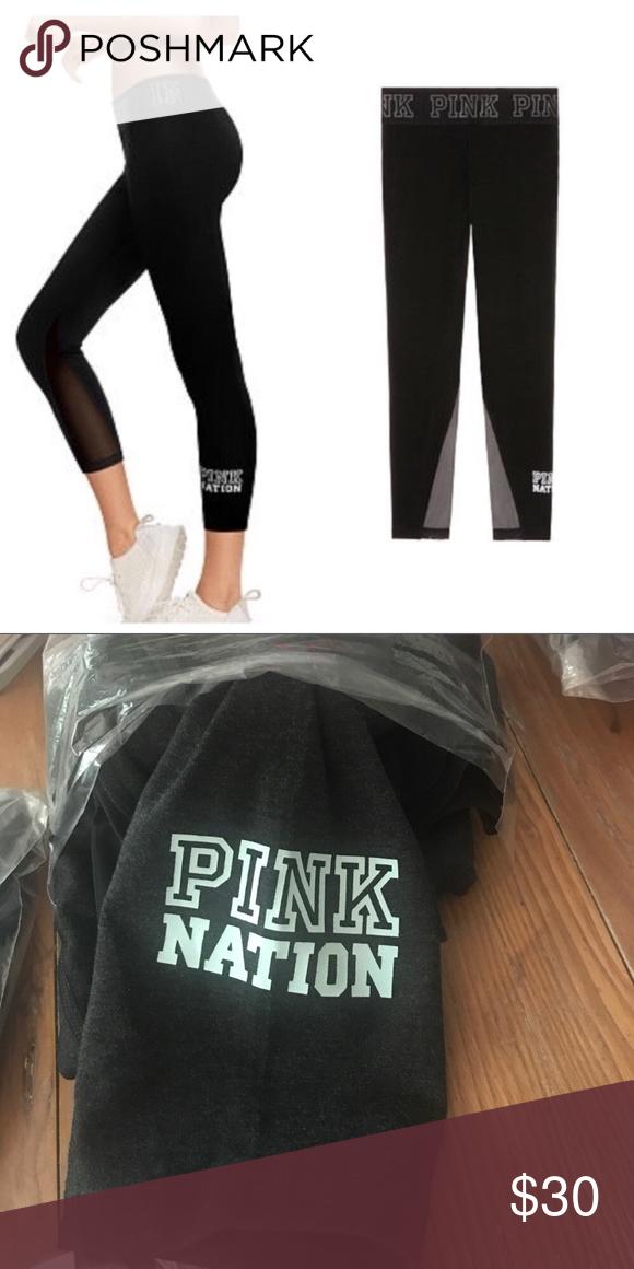 930607b029ef9 NEW VS PINK mesh ankle leggings New in package. Victoria's Secret ...