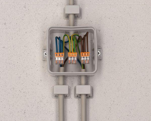 boitier lectrique raccordement avec wago electricit pinterest boitier electrique. Black Bedroom Furniture Sets. Home Design Ideas