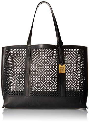 Frye Peyton Perf Tote Bag Black One Size *** Continue to the product at the image link.Note:It is affiliate link to Amazon.