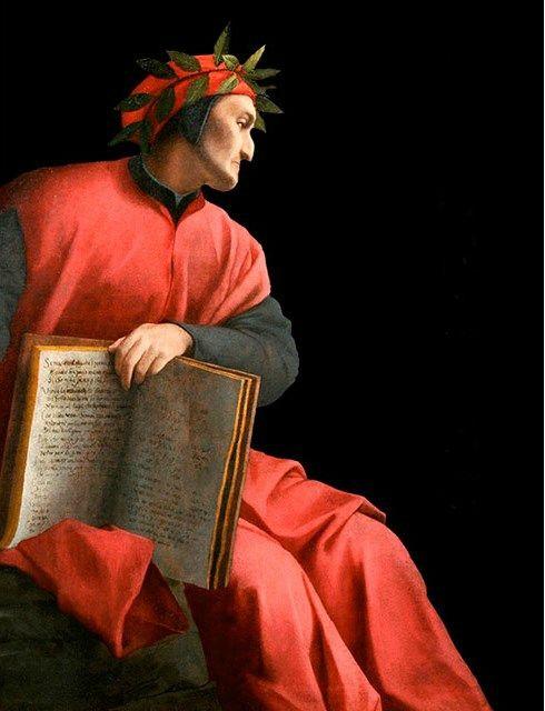Dante Alighieri: Agnolo Bronzino (1503-1572), Allegorical Portrait of Dante, 1532-1533. Oil on canvas, 5...
