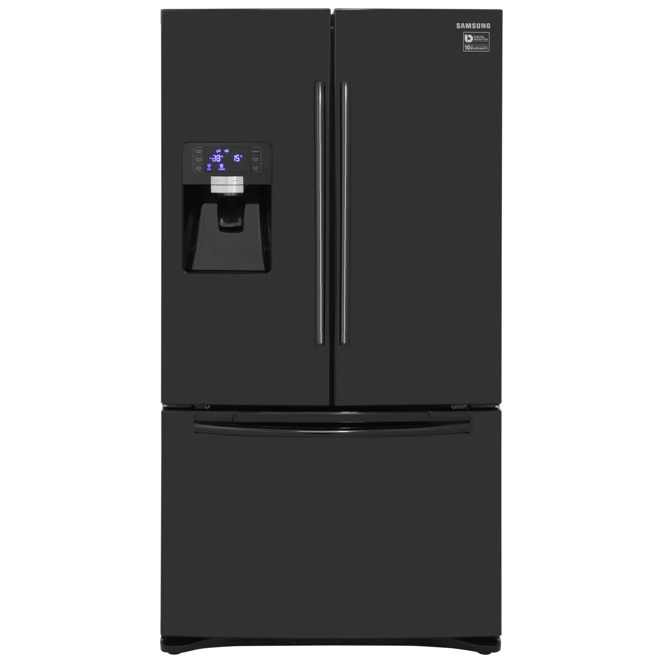 Samsung G Series Rfg23uebp American Fridge Freezer Black A