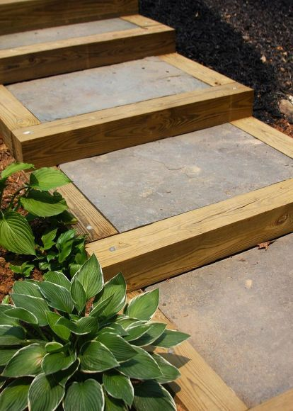 Best Easy Diy Concrete Planter Patio Stairs Outdoor Stairs 640 x 480