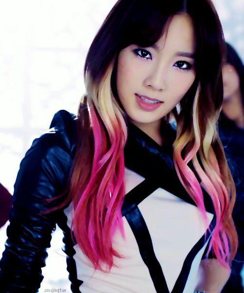 Taeyeon Girls Generation Kpop Hair Color Kpop Hair Ombre Hair
