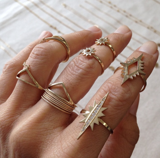 Instamatic: Stackable Modern Yellow Gold Rings