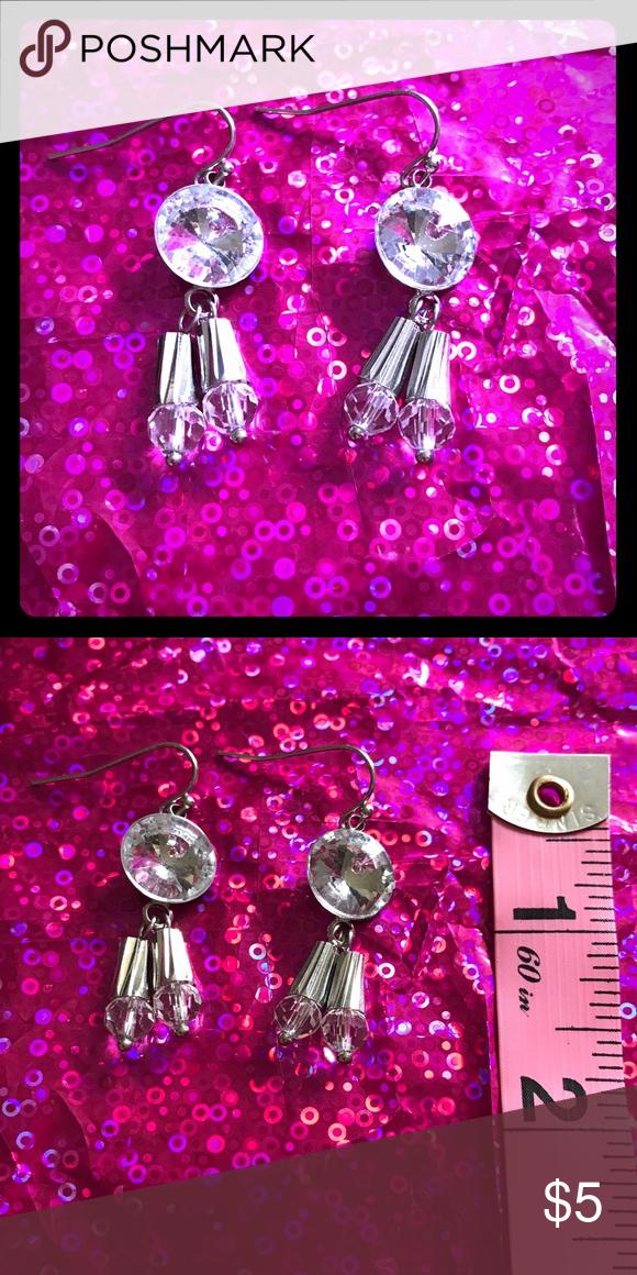 Brand new handmade earrings glam rhinestones Glitzy glam handmade dangle earrings. Beautiful rhinestones, great for a night out! Jewelry Earrings
