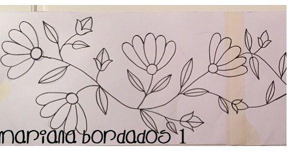 Patrón para bordar Parte 1 ✏ ✏ ✏ ✏ ✏ ✏  bordado  flores  marianabordados   bordardapaz Que tengan una linda semana!!! 4019b280efb52
