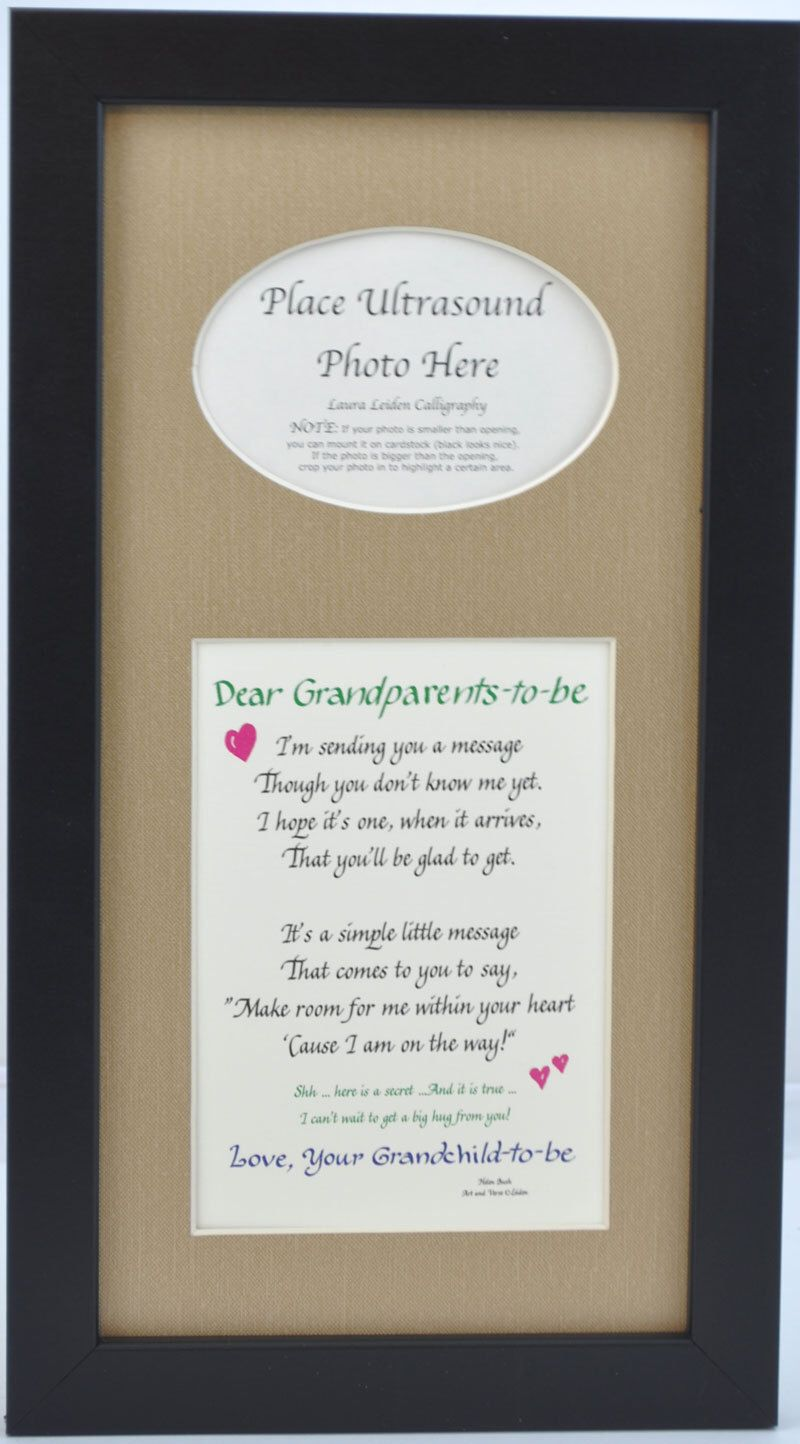 Grandparents To Be Ultrasound Frame 7x14 Dad Gift Father Sonogram