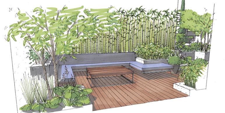 Perspectives architecte paysagiste thomas gentilini cr ation et am nagement jardin - Terrasse et jardin marseille ...