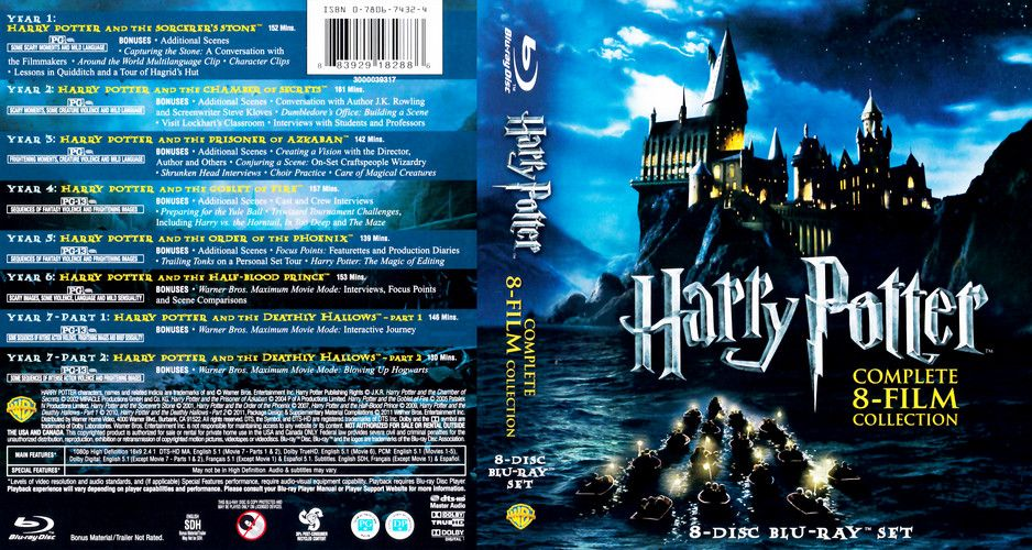 Harry potter complete 8 film collection 2001 2011 for Sejour complet harry potter