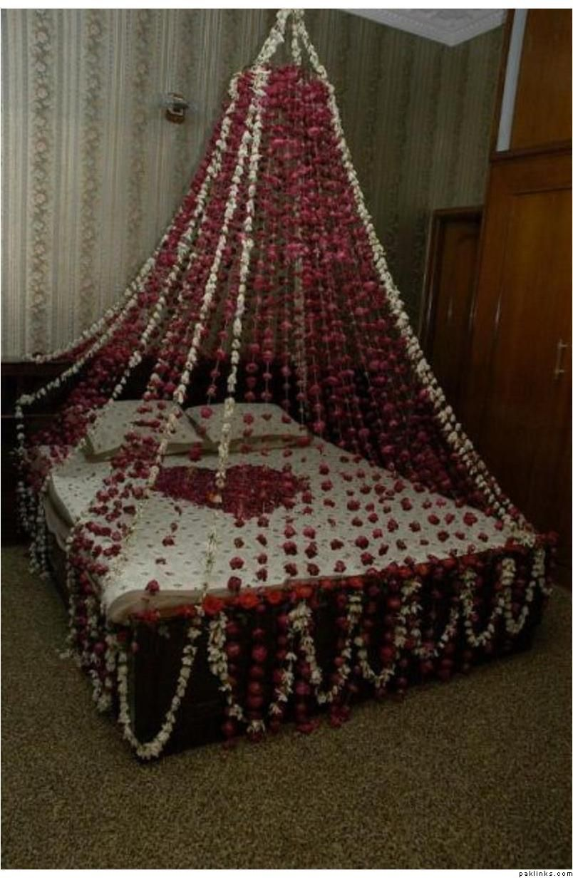 Bed Floral Decoration For Wedding Wedding Room Decorations
