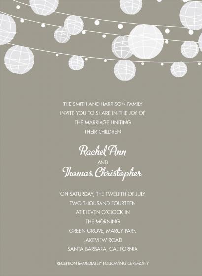 Paper Lanterns Mushroom Wedding Invitations By Invitation Duck