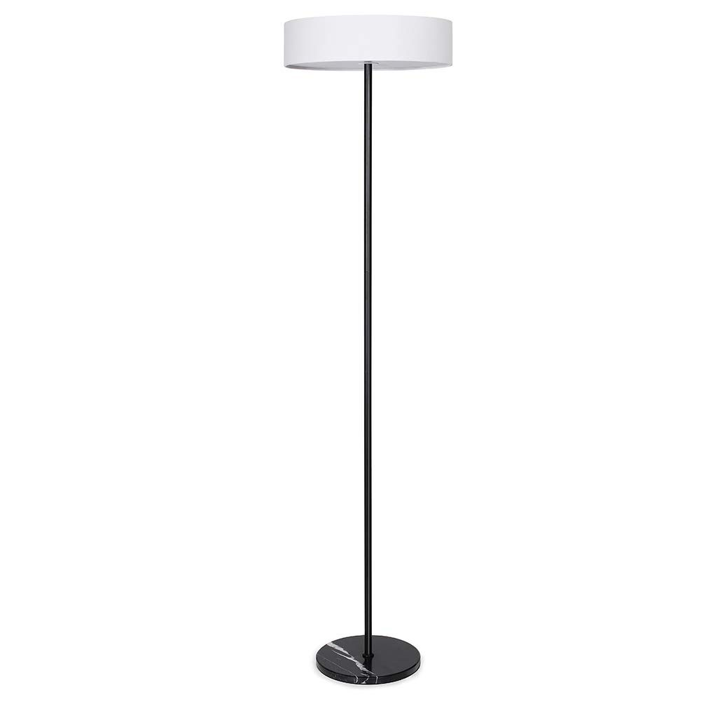Jupiter Industrial Floor Lamp Black Marble Base White Fabric Shade H63 Inch 3 Light Heads Bulb Not Include Black More Inf Floor Lamp Lamp Black Floor Lamp