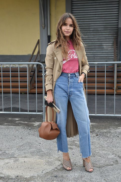 The Best Denim Outfit Ideas From Fashion Week Street Style