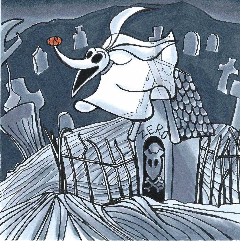 Zero Nightmare Before Christmas Original Illustration