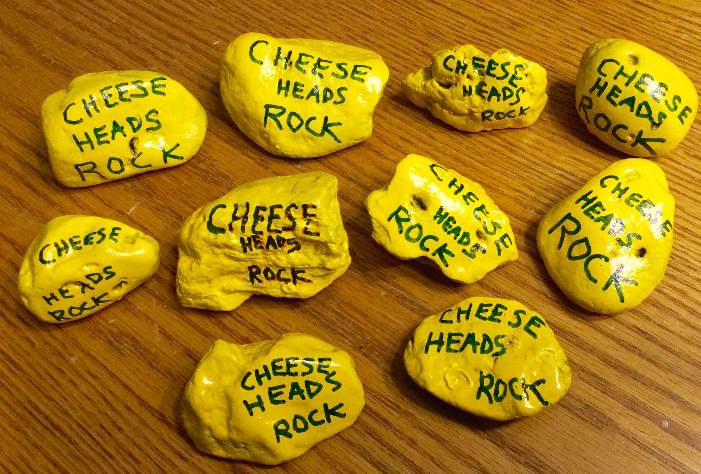 Green Bay Packers Cheesehead Painted Rocks Done By Holly N Painted Rocks Green Bay Packers Cheesehead Cheesehead