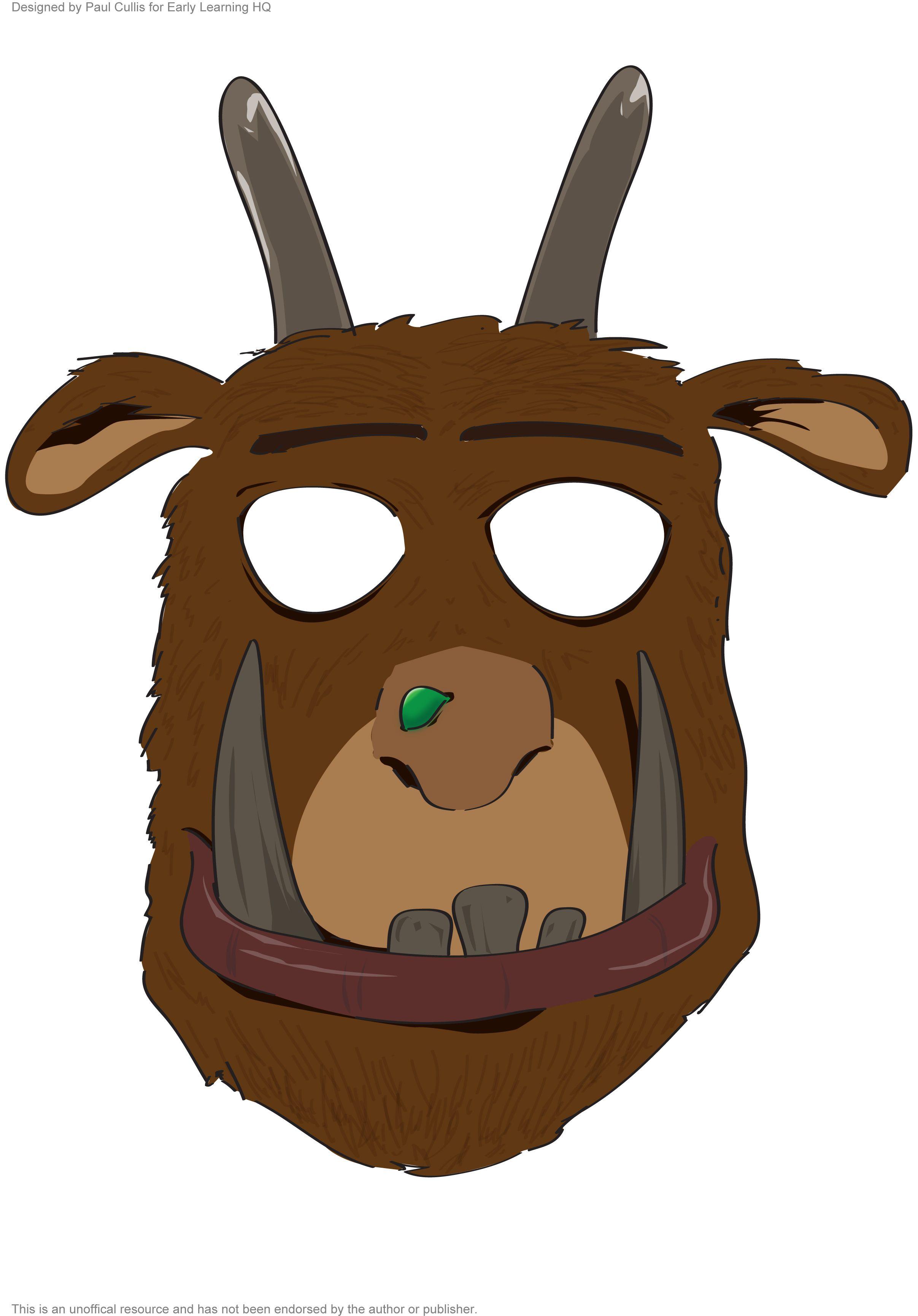 Themahoek Masker De Gruffalo
