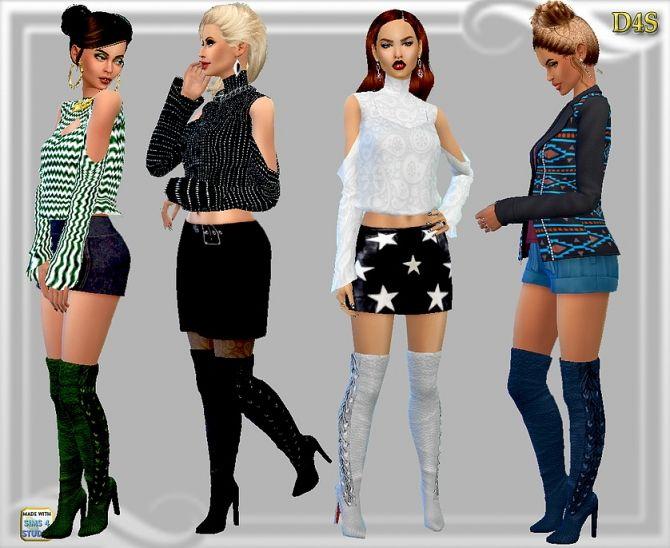 Rimini boots at Dreaming 4 Sims via Sims 4 Updates