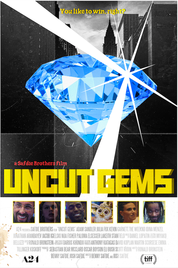 Uncut Gems in 2020 Film poster design, Film posters art