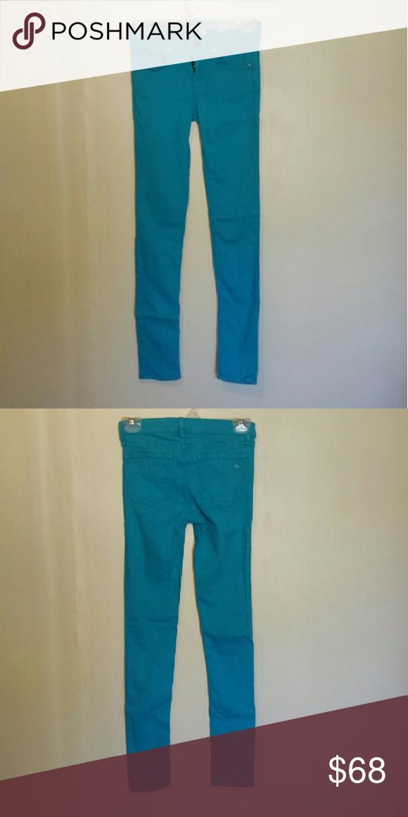 Rag & Bone blue skinny jeans Size 24, worn but great condition. rag & bone Jeans Skinny